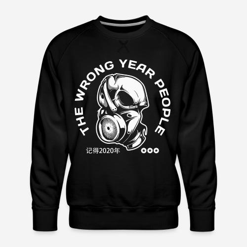 falsche Jahr 2020 Covid Maske - Männer Premium Pullover