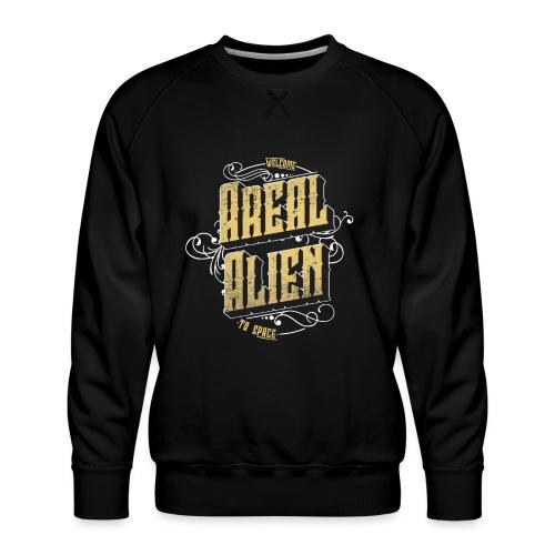 Areal Alien Vintage logo - Premium-genser for menn