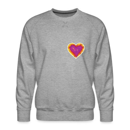 Stitched Heart - Men's Premium Sweatshirt