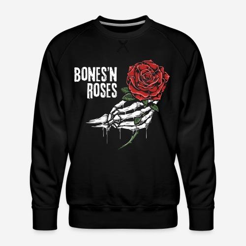 Schädelknochen Rosen - Männer Premium Pullover