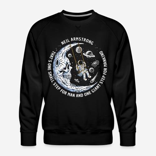moon astronaut stars space - Männer Premium Pullover