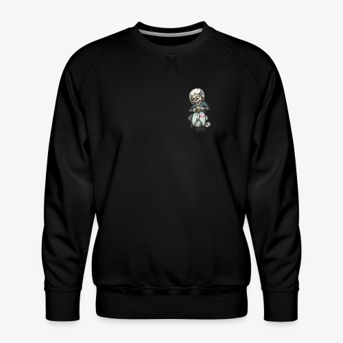 Skullterist + Vintage Logo - Männer Premium Pullover