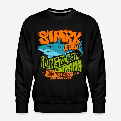 shark surf surfing california - Männer Premium Pullover