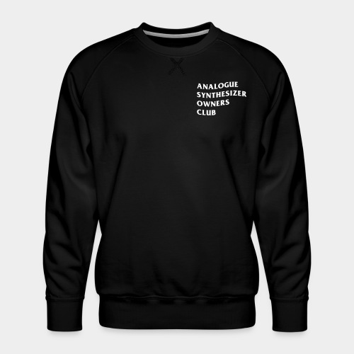 Analogue Synthesizer Owners Club (black) - Männer Premium Pullover
