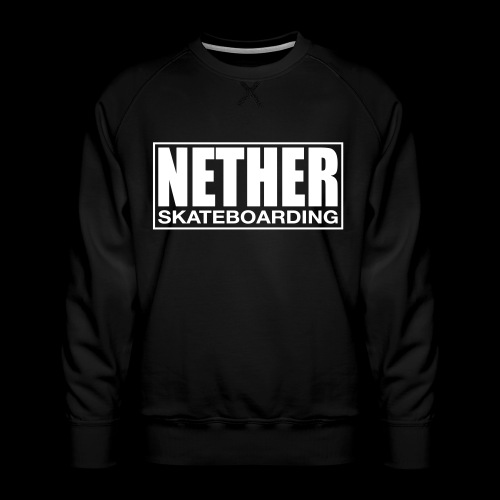 Nether Skateboarding T-shirt Black - Felpa premium da uomo