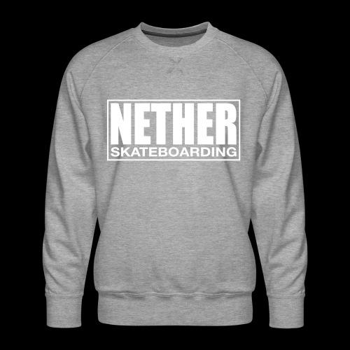 Nether Skateboarding T-shirt Black - Felpa premium da uomo