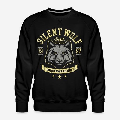 stilles tapferes Wolfst-shirt - Männer Premium Pullover