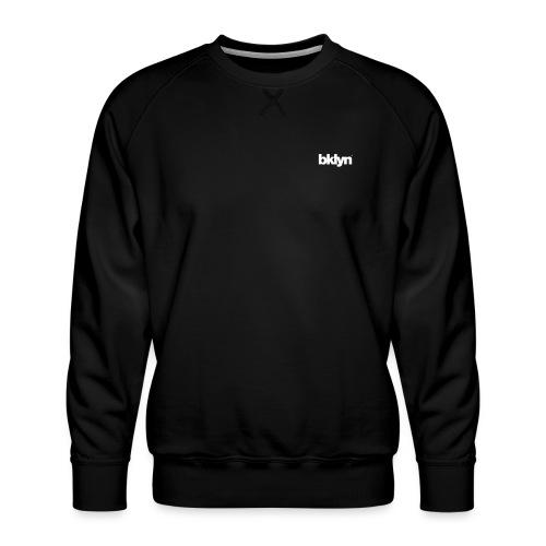 bklyn / jazz (black) - Men's Premium Sweatshirt
