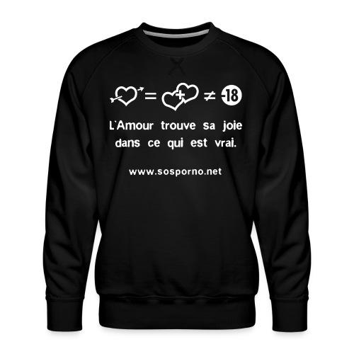 True love - Sweat ras-du-cou Premium Homme