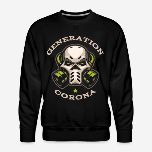 corona generation covid - Männer Premium Pullover