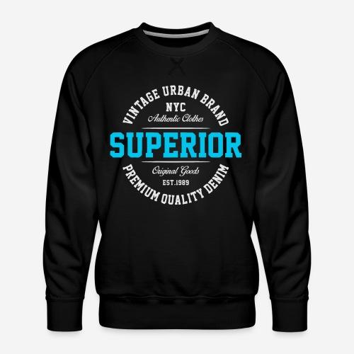 Superior Urban Wear Denim - Männer Premium Pullover