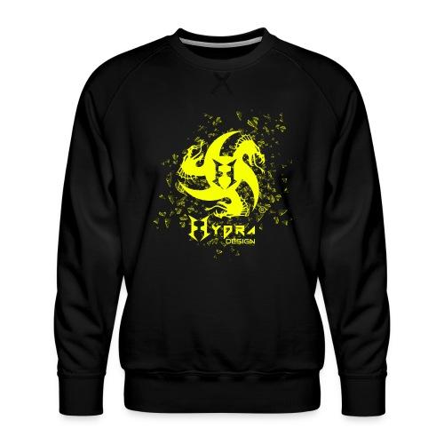 Hydra Design - logo glass explosion - Men's Premium Sweatshirt