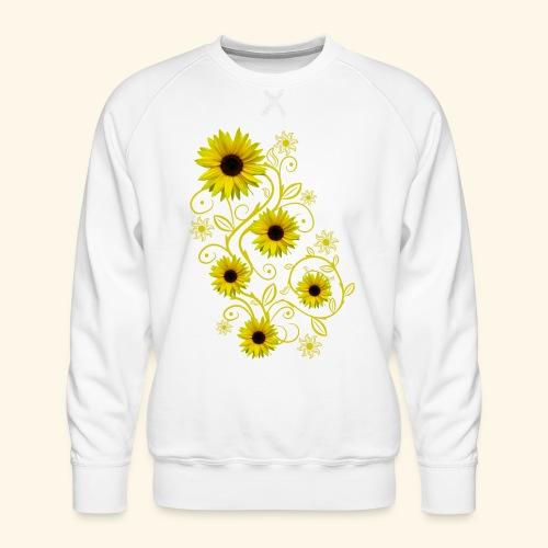 gelbe Sonnenblumen, Ornamente, Sonnenblume, Blumen - Männer Premium Pullover