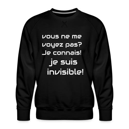 Invisibile #invisibile - Felpa premium da uomo