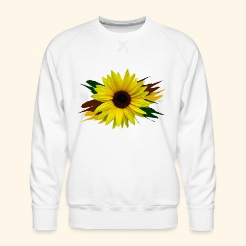Sonnenblume, Sonnenblumen, Blume, floral, blumig - Männer Premium Pullover