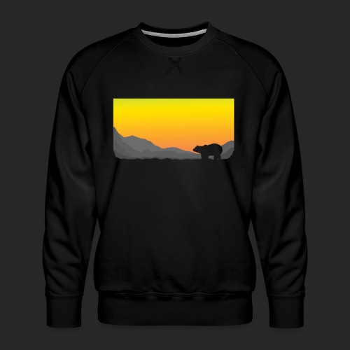 Sunrise Polar Bear - Men's Premium Sweatshirt