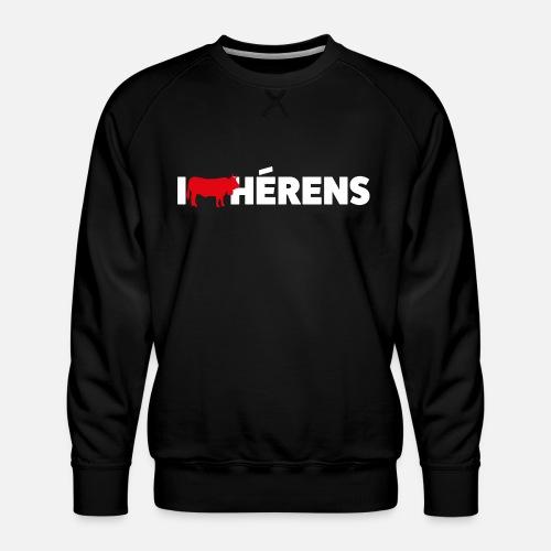 I LOVE HÉRENS - Männer Premium Pullover