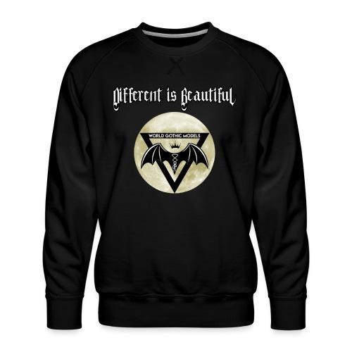Different is Beautiful with Moon WGM Logo - Men's Premium Sweatshirt