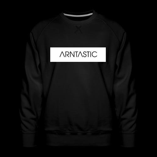 ARNTASTIC balken weiss - Männer Premium Pullover