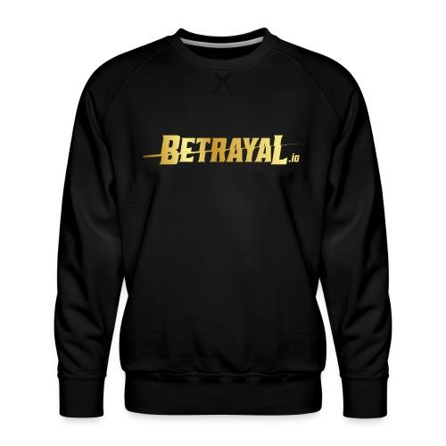 00417 Betrayal dorado - Sudadera premium para hombre