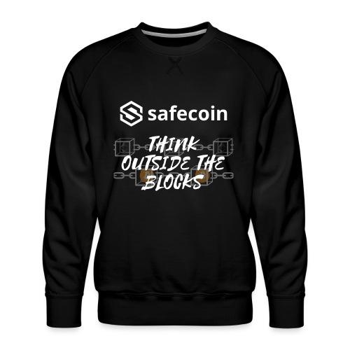 Safecoin Think Outside the Blocks (white) - Men's Premium Sweatshirt