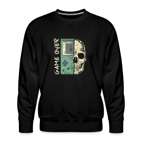 Game over Gaming Spruch Outfit für Zocker Gamer - Männer Premium Pullover