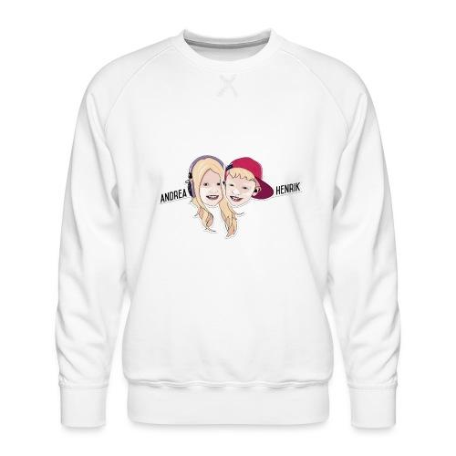Enkel Logo - Premium-genser for menn