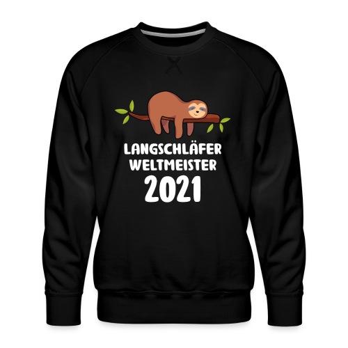 Faultier Spruch Schlafen Schlafshirt Geschenk - Männer Premium Pullover