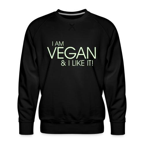 I am vegan and I like it - Männer Premium Pullover