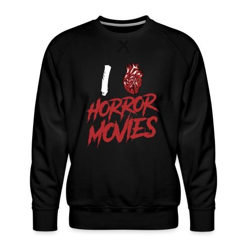 I Love Horror Movies - Männer Premium Pullover