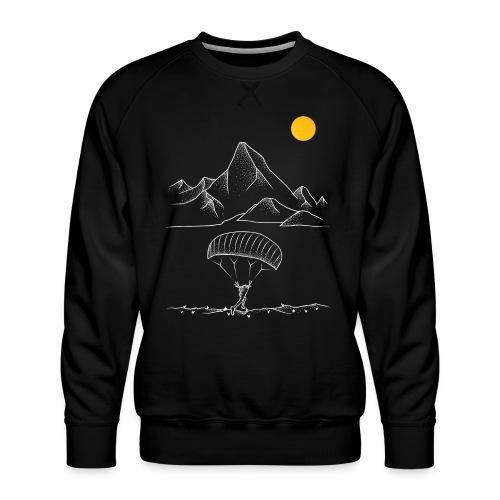 Gleitschirmfliegen Alpen Sonnenaufgang Berge - Männer Premium Pullover