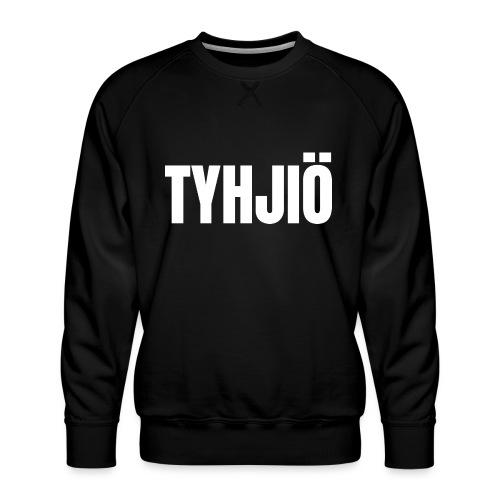 TYHJIÖ Logo White - Miesten premium-collegepaita