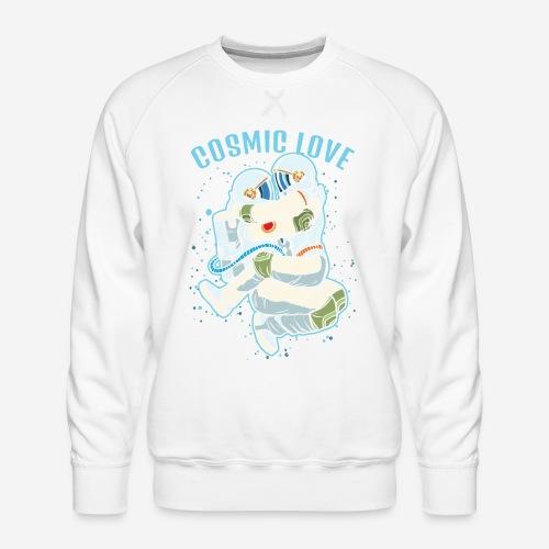kosmische Liebe Astronautenraum - Männer Premium Pullover