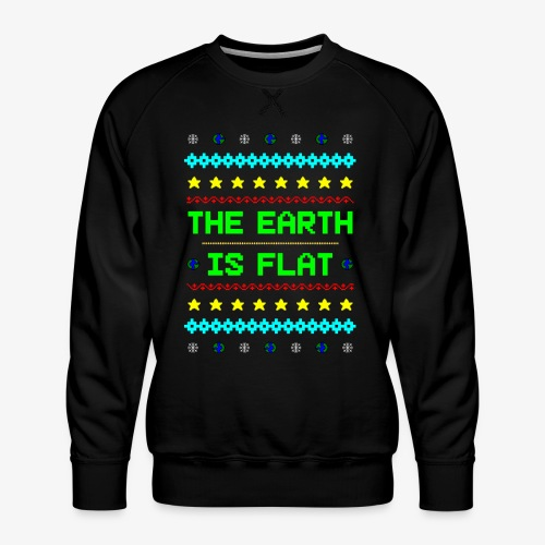 Earth is flat Ugly Christmas - Männer Premium Pullover