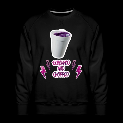 Screwed And Chopped Blanc - Sweat ras-du-cou Premium Homme