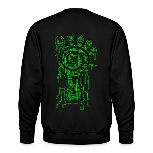 Parvati Records Matrix, outlined - Men's Premium Sweatshirt