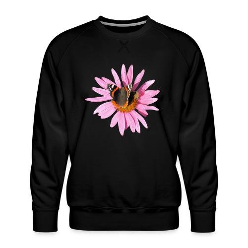 TIAN GREEN Garten - Sonnenhut Schmetterling - Männer Premium Pullover