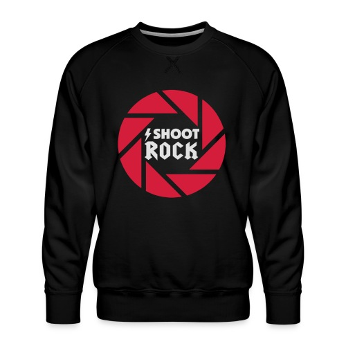 I shoot Rock (white) - Männer Premium Pullover
