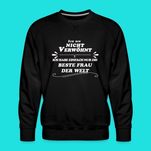 Beste Frau der Welt - Männer Premium Pullover