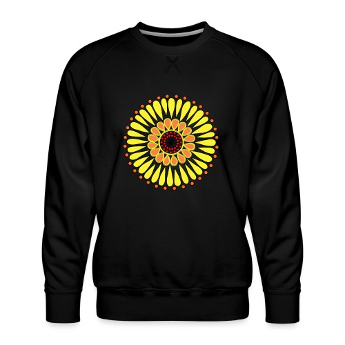 Yellow Sunflower Mandala - Men's Premium Sweatshirt