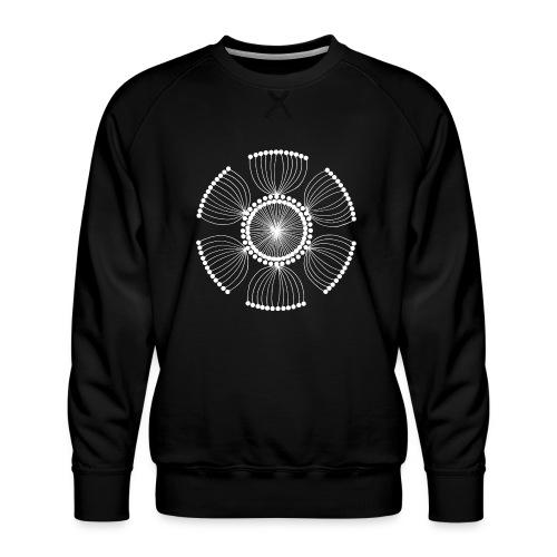 White Poppy Seed Mandala II - Men's Premium Sweatshirt