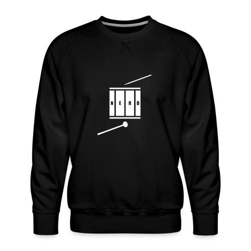 Nerd_Logo White - Herre premium sweatshirt