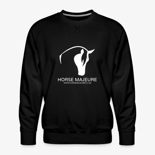 Horse Majeure Logo / Valkoinen - Miesten premium-collegepaita