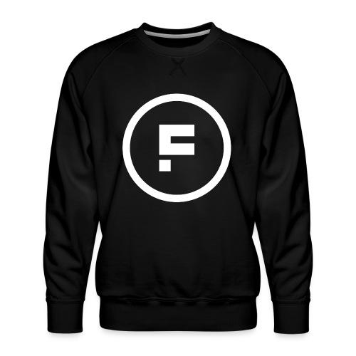 Logo Rond Wit Fotoclub - Mannen premium sweater