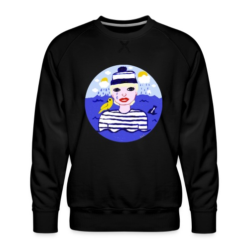 the sailor in love with the sea - Männer Premium Pullover