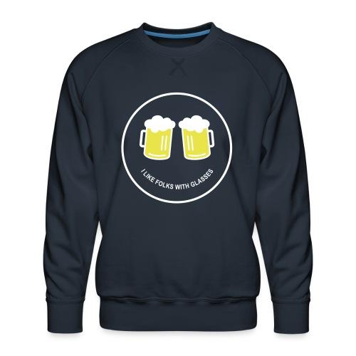 Bier Smiley – Oktoberfest – Bierzelt – Aprèski - Männer Premium Pullover