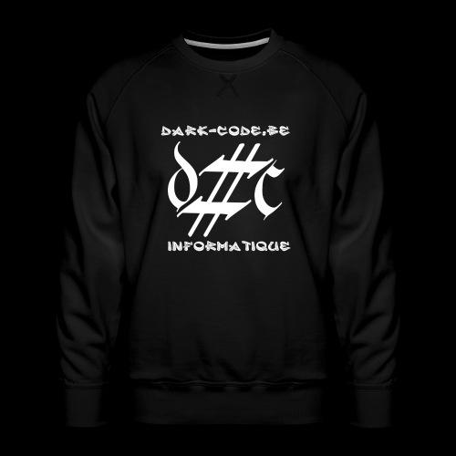 Dark-Code Gothic Logo - Sweat ras-du-cou Premium Homme