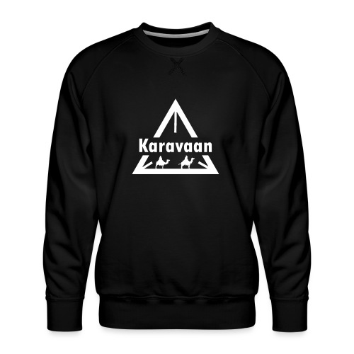 Karavaan White (High Res) - Mannen premium sweater