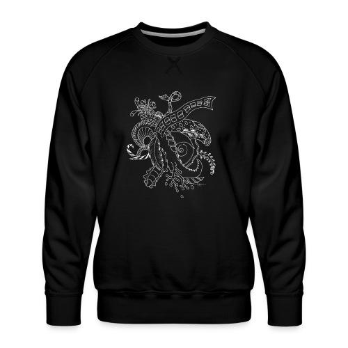 Fantasy hvid scribblesirii - Herre premium sweatshirt