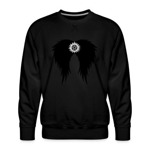 Supernatural wings (vector) Hoodies & Sweatshirts - Men's Premium Sweatshirt